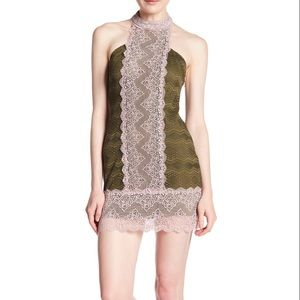 NWT Free People Natasha Lace Halter Dress, S